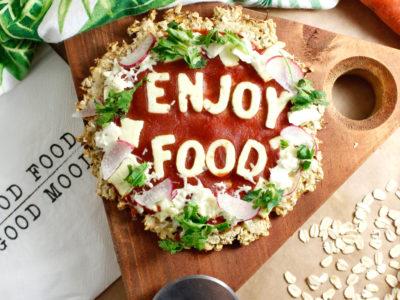 Pizza Crust de Zanahoria y Avena